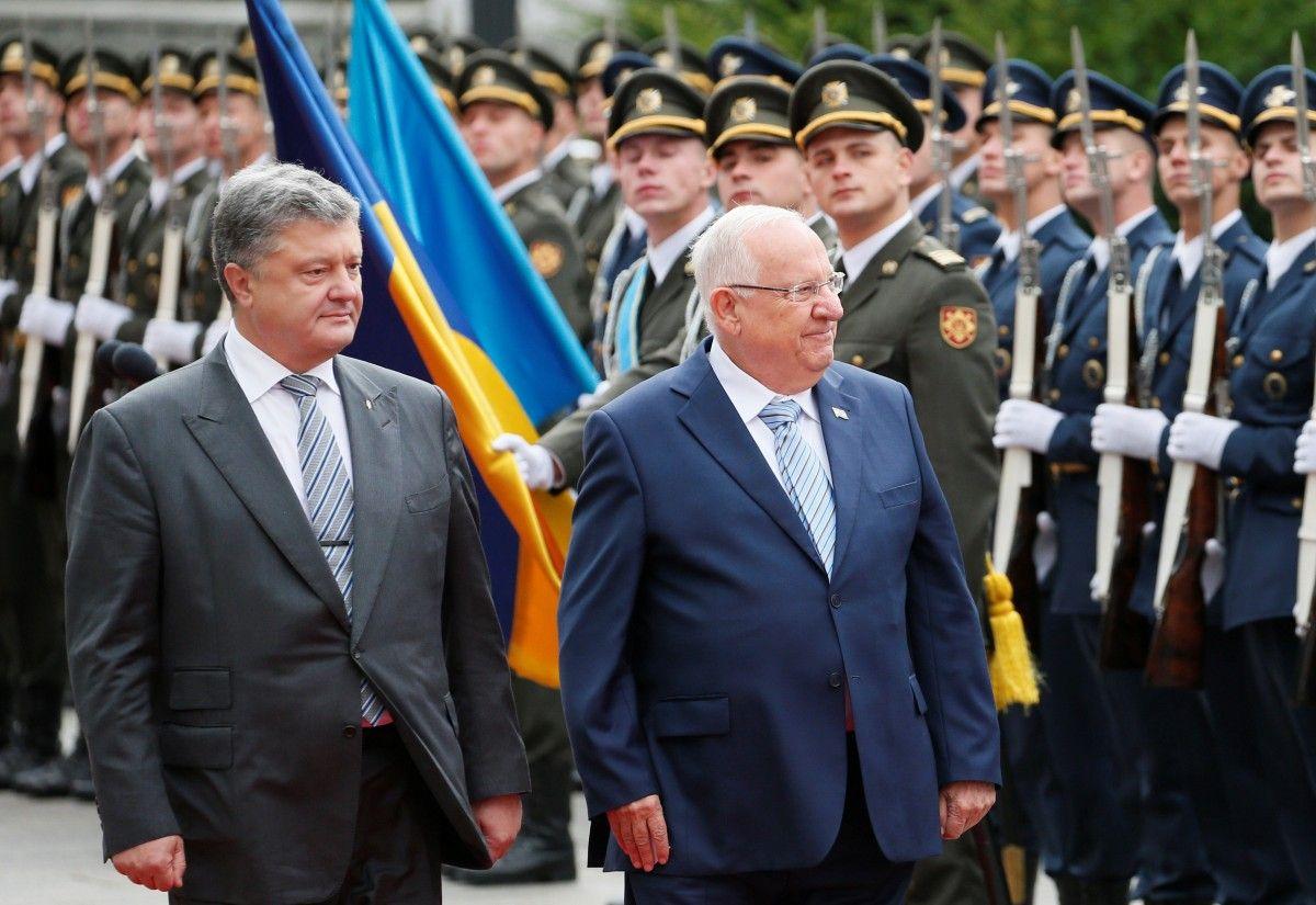 Президент Украины Петр Порошенко встретился с президентом Израиля Реувеном Ривлиным в Киеве 27 сентября / Фото REUTERS
