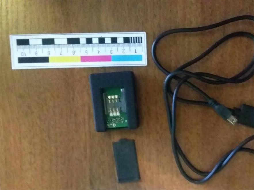 Мініатюрні прилади стеження чоловік купував у країнах Азії / фото: СВЗГ УСБУ в Тернопільській області