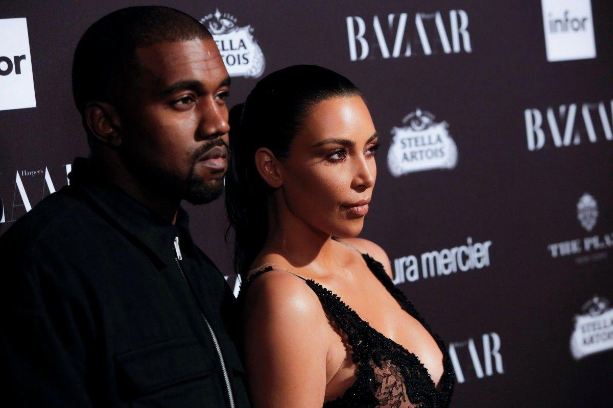 Ким Кардашьян и Канье Вест / REUTERS