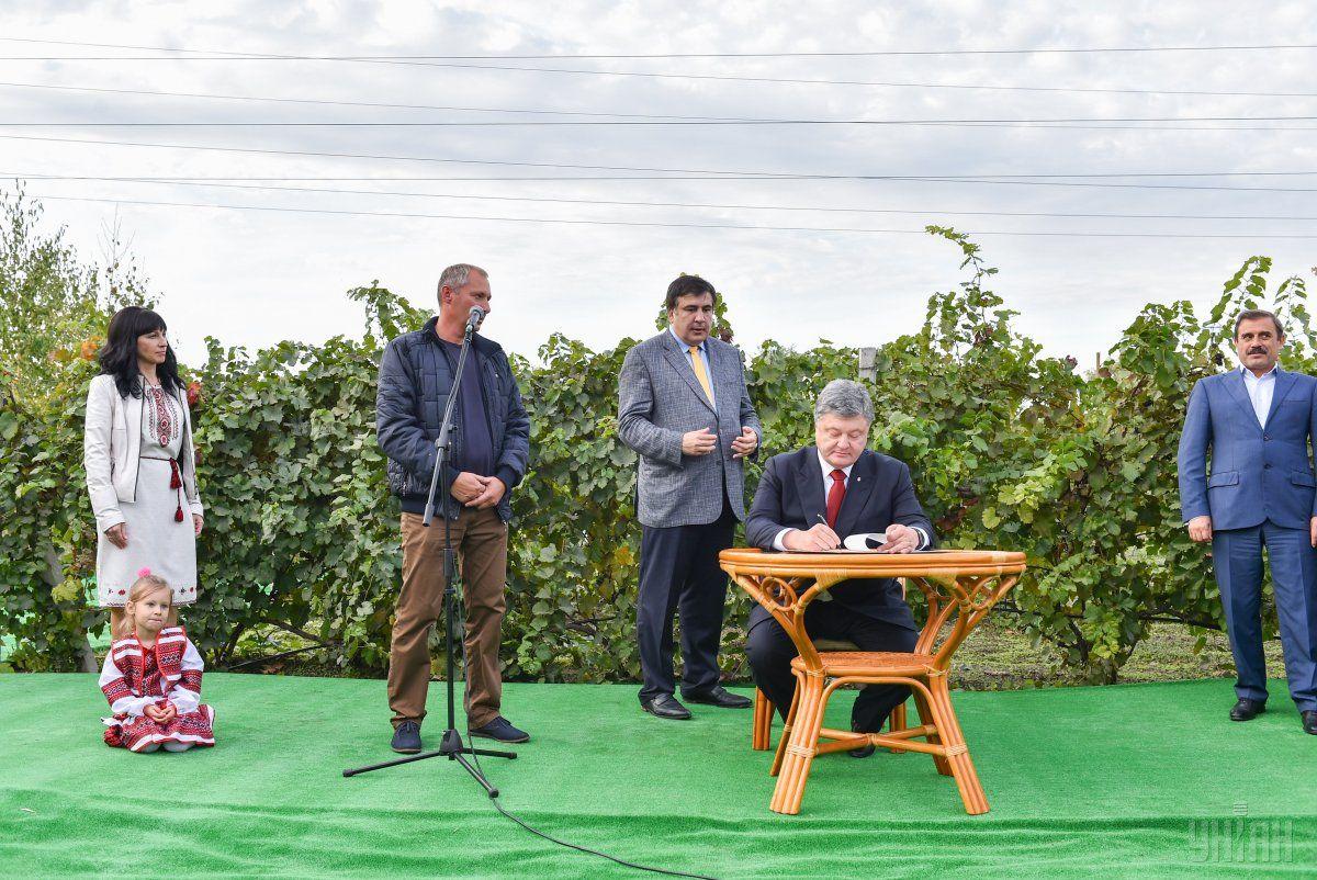 Порошенко предложил установить 7 октября в Украине Днем винодела / Фото УНИАН