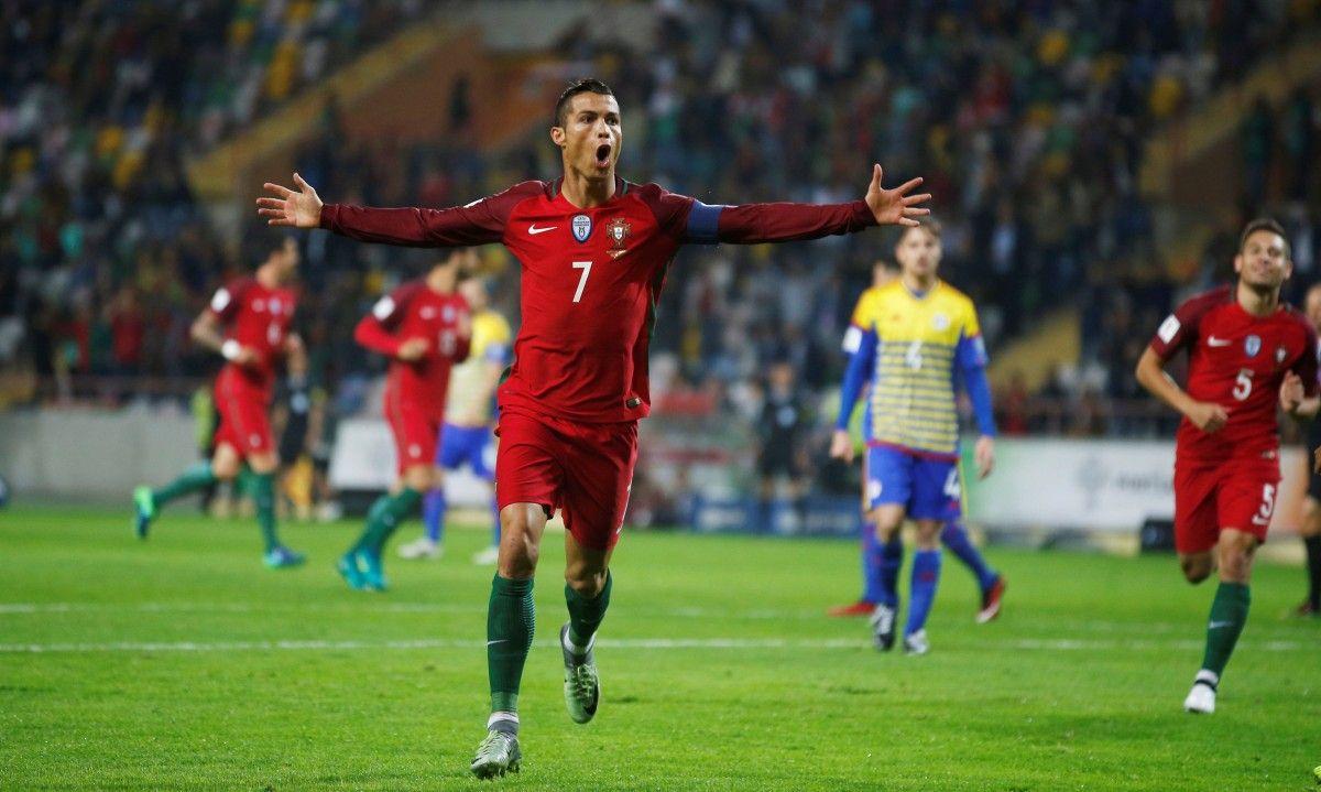Роналдо сделал покер в матче Португалия - Андорра / Reuters