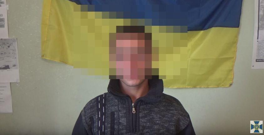 Через нестачу грошей затриманий втік з незаконного збройного формування та планував повернутися до рідного Добропілля / Скріншот відео