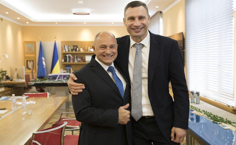 Віталій Кличко та Райнер Бомба / Фото kievcity.gov.ua