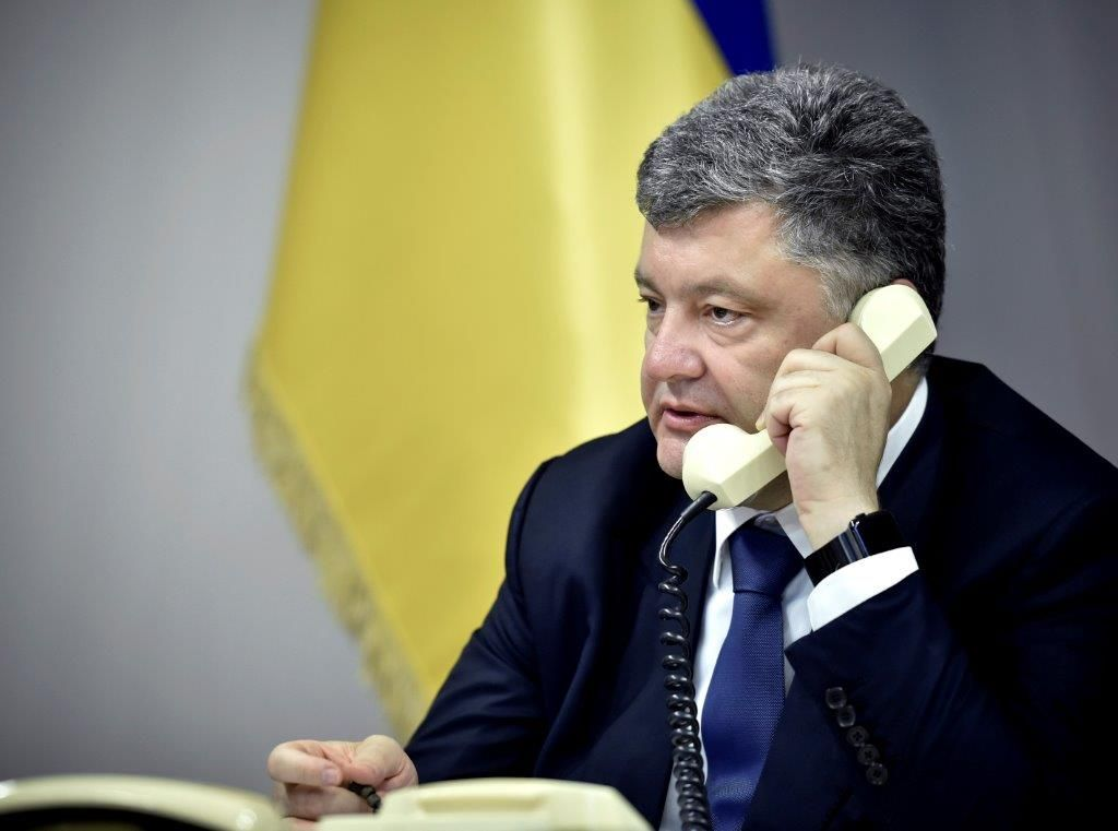 In every conversation with each global leader, Poroshenko calls Russia the aggressor and demands the withdrawal of its troops from Ukraine, said Tsegolko / president.gov.ua