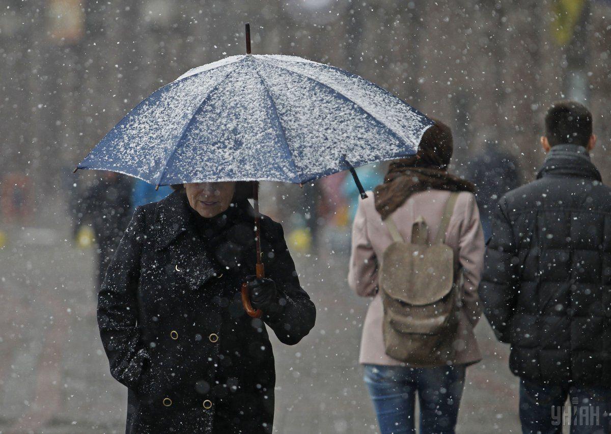 В Киев идет мокрый снег / УНИАН