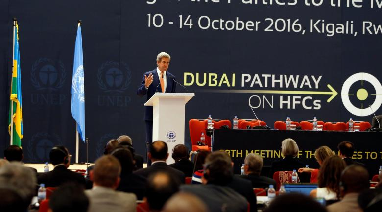 Госсекретарь США Джон Керри на переговорах в Руанде / REUTERS