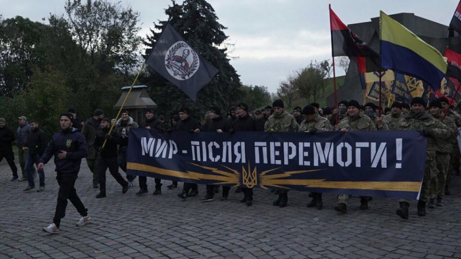A procession was held in Kyiv on the occasion of the Day of Ukrainian Cossacks / Photo azov.press