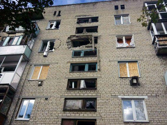 Последствия ночного обстрела боевиками Марьинки / dn.npu.gov.ua