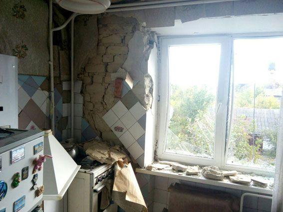 Наслідки нічного обстрілу бойовиками Мар'їнки / Photo from dn.npu.gov.ua