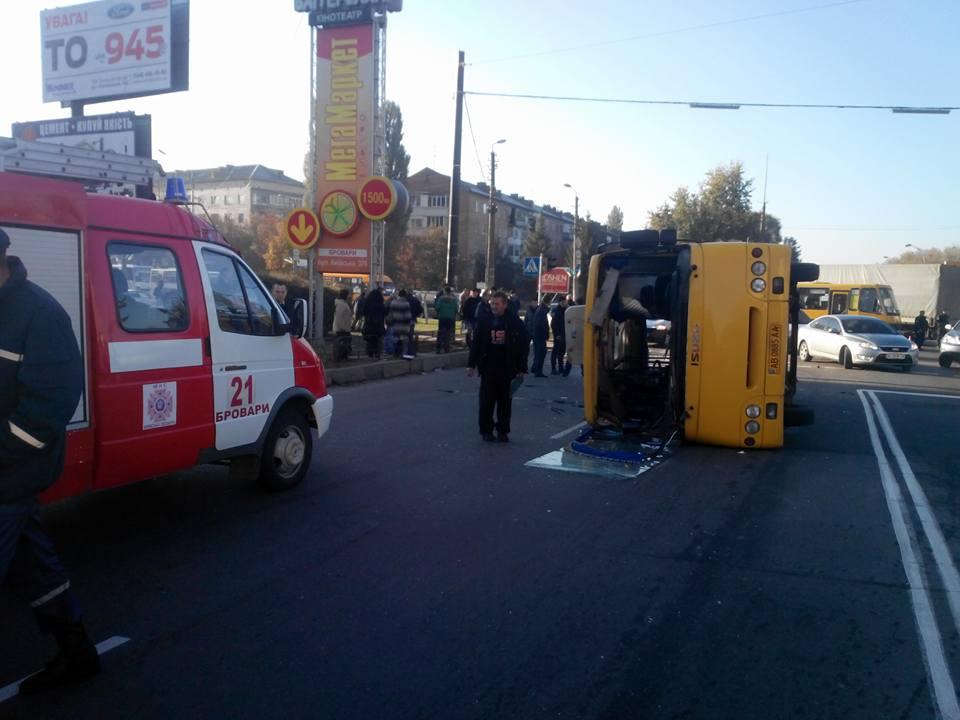 В Киевской области перевернулась маршрутка / kyivobl.dsns.gov.ua