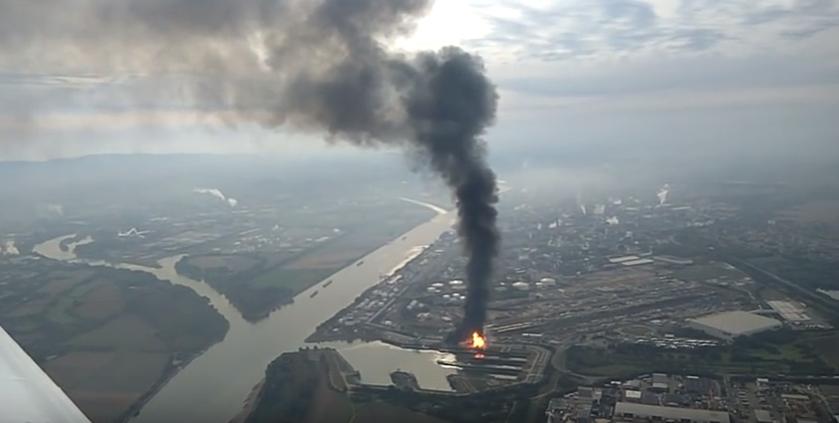 Взрыв на химзаводе в Германии / Скриншот