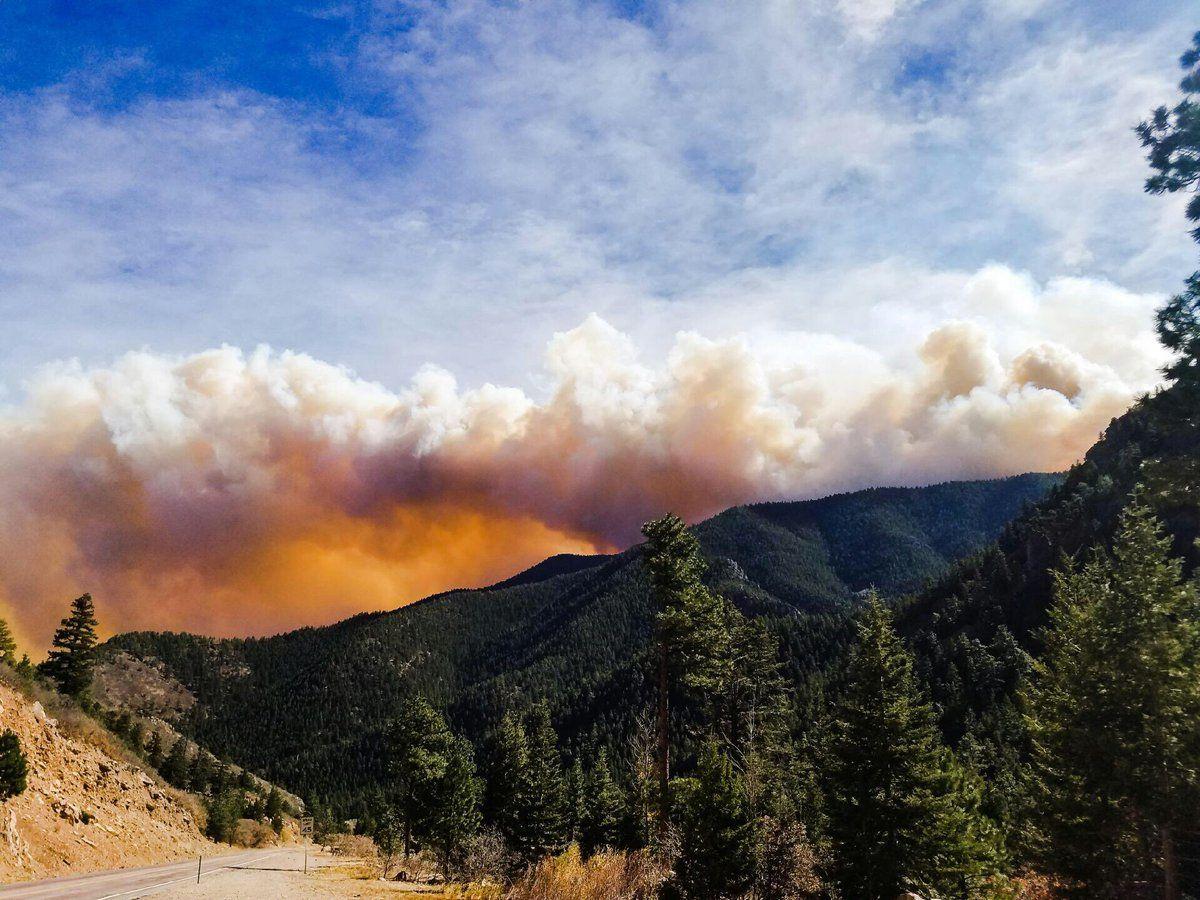 Лесной пожар в Колорадо уничтожил несколько домов / twitter.com @junkinsfire