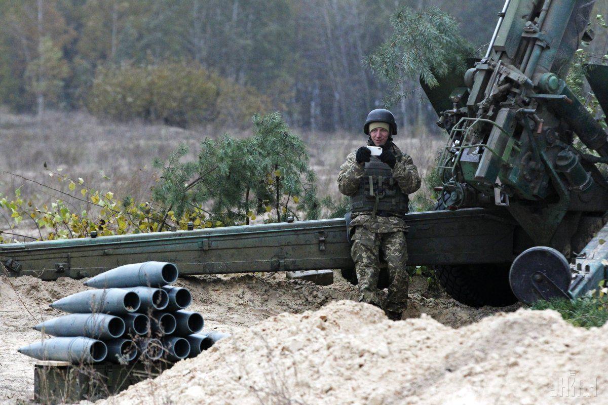 Украинские военные на учениях / Иллюстрация УНИАН