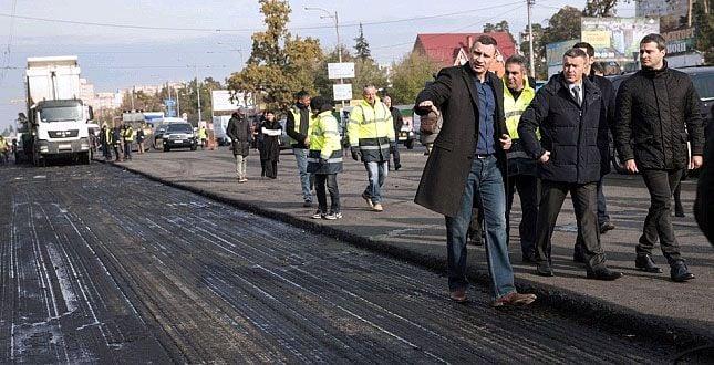 Виталий Кличко во время инспекции / Фото kievcity.gov.ua