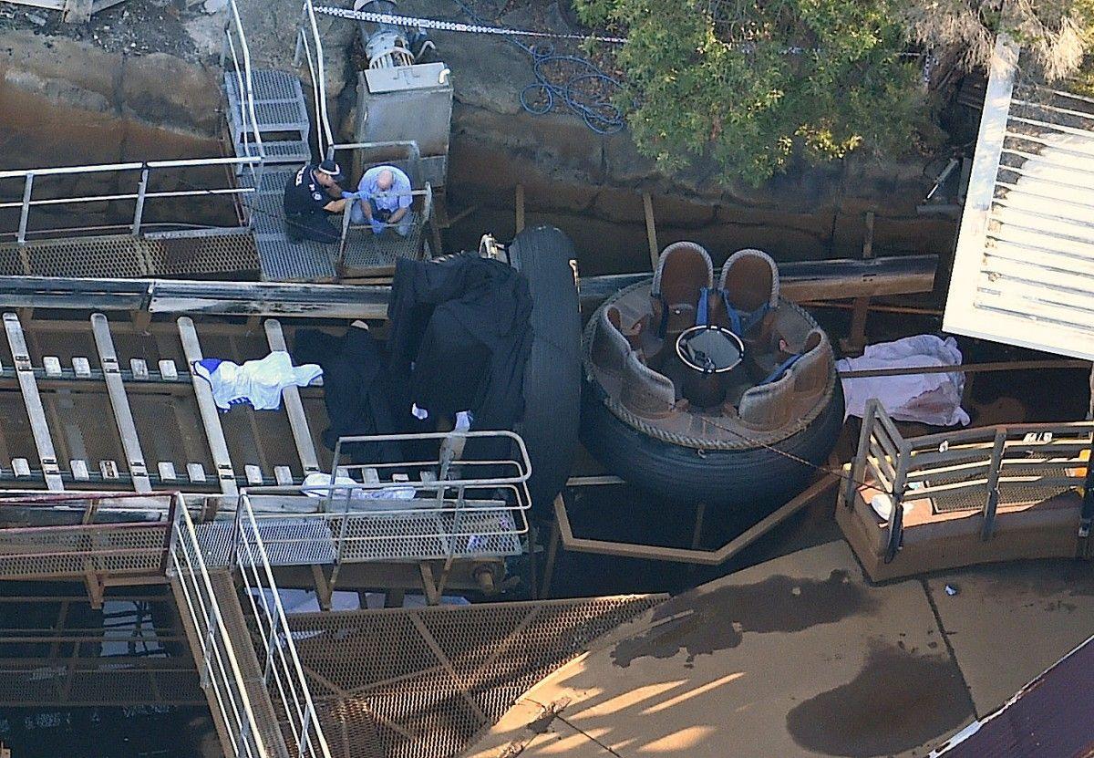Место гибели людей в парке Dreamworld в Австралии / REUTERS