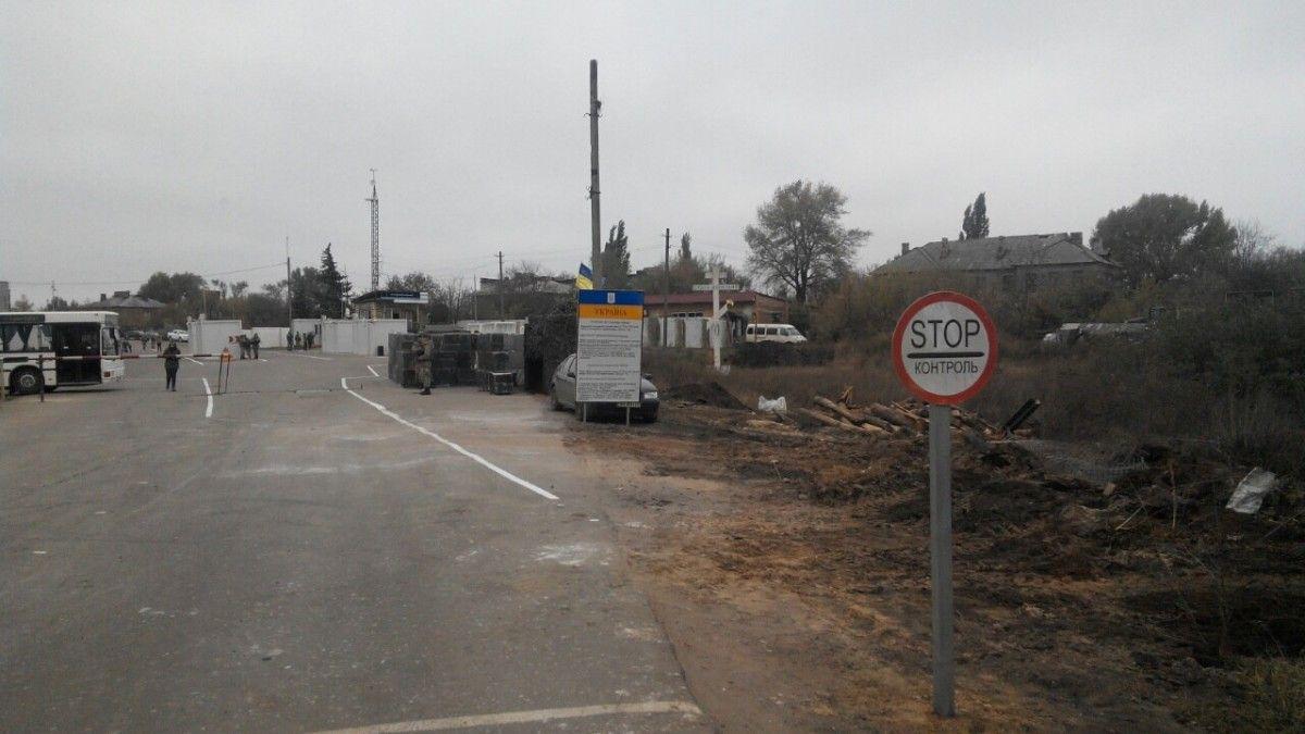 На месте обстрела представителями украинской стороны СЦКК был обнаружен один снаряд \ vchasnoua.com