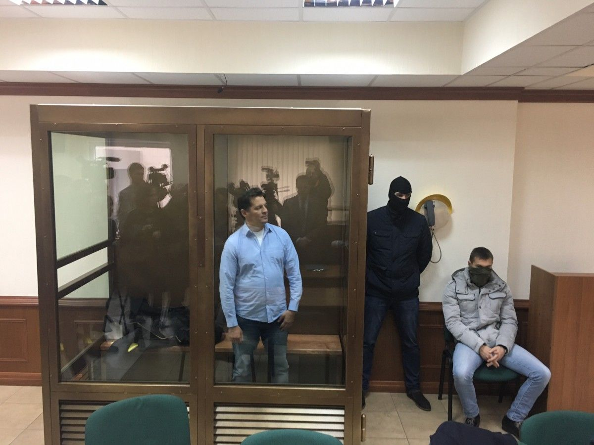 Sushchenko on trial in Moscow / Photo from UNIAN