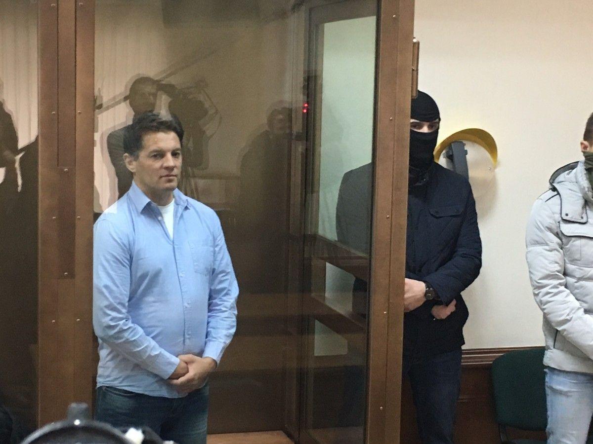Сущенко на суді в Москві / Фото УНІАН