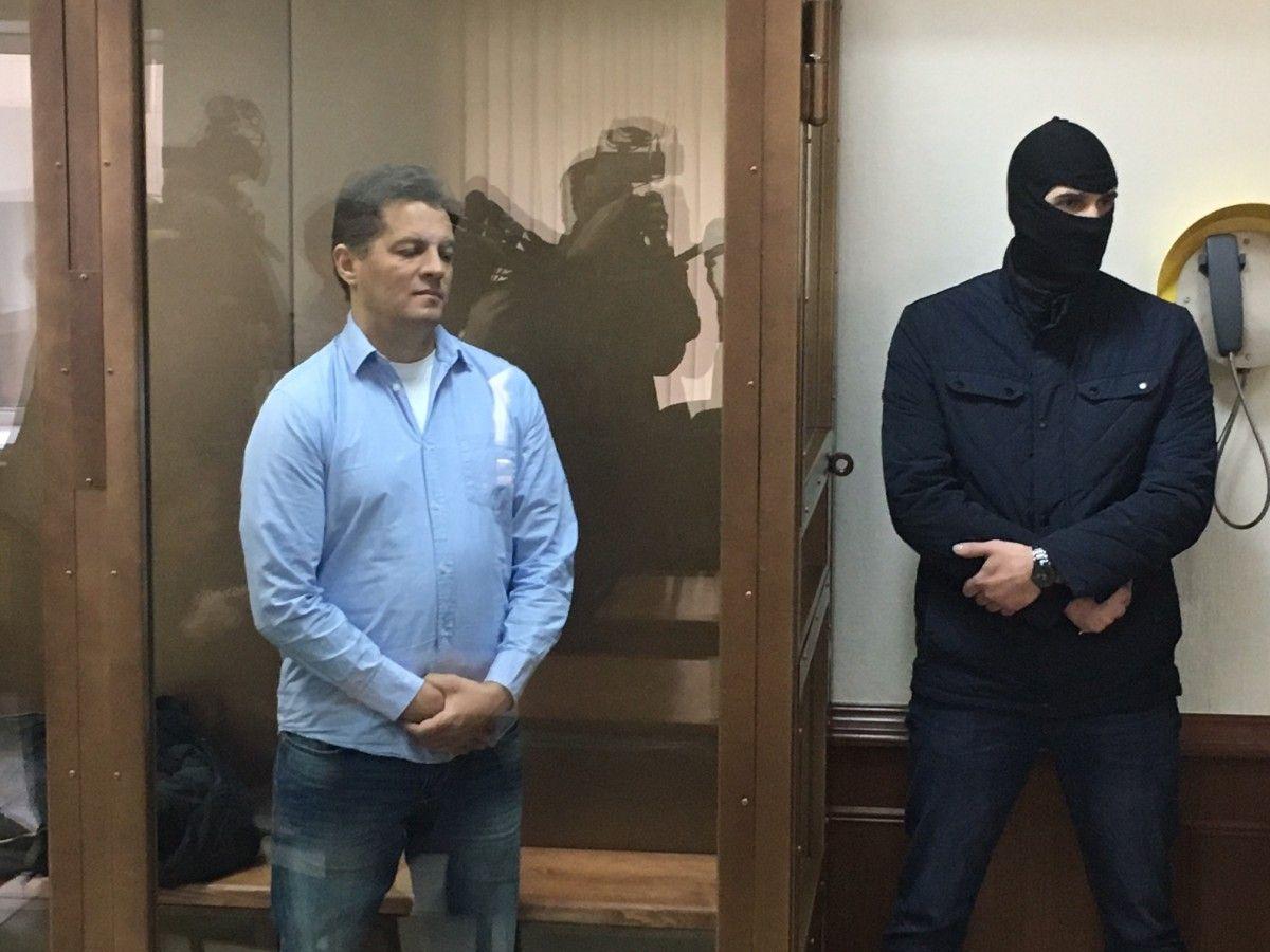 Роман Сущенко на суде в Москве / Фото УНИАН