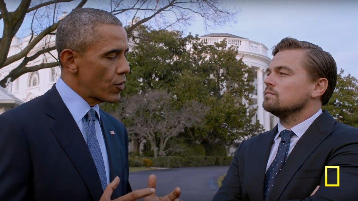 Барак Обама і Леонардо Ді Капріо / Кадр з фільму Before the Flood