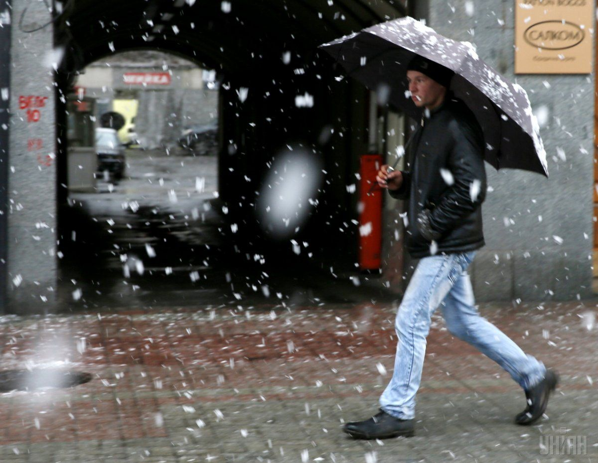 В Киеве завтра пройдет дождь со снегом / УНИАН