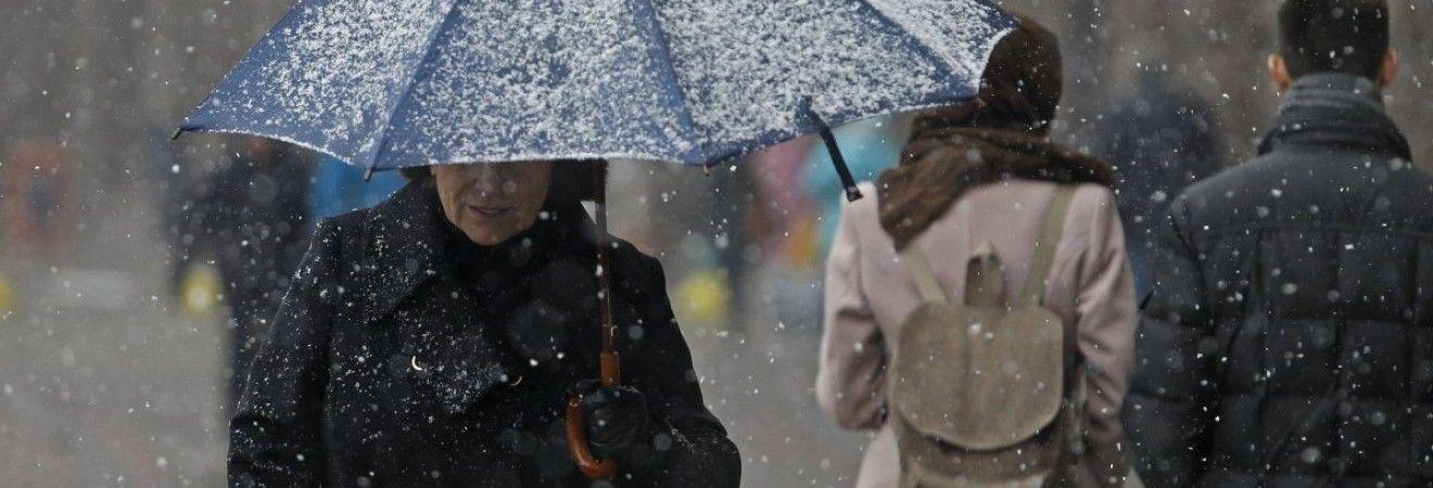 В Киеве сегодня пройдет снег, днем до -2°