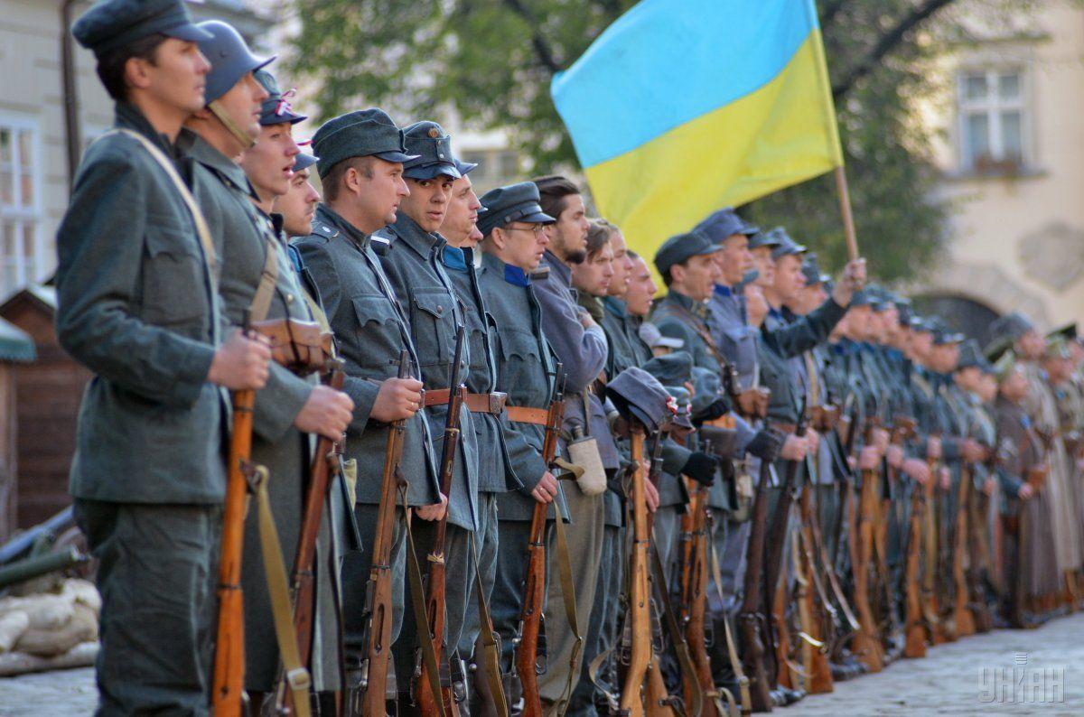 На мероприятии в честь 98-летия провозглашения ЗУНР говорили, что сегодня Украина переживает не менее трагические времена / Фото УНИАН