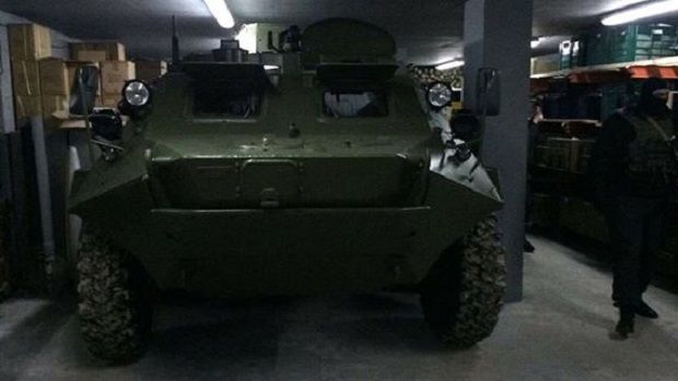 An APC was stored in the bunker / Photo from facebook.com/kyiv.gp.gov.ua