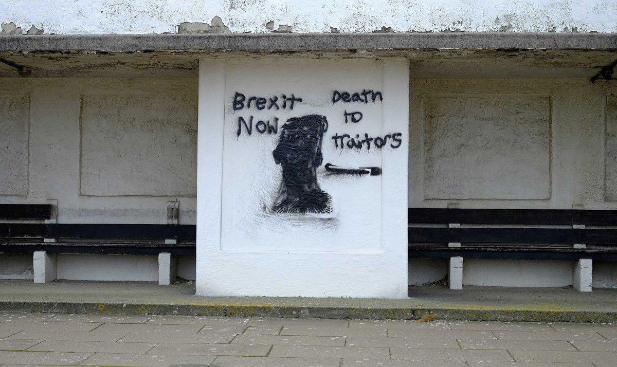 Граффити в британском Нью-Брайтоне / REUTERS