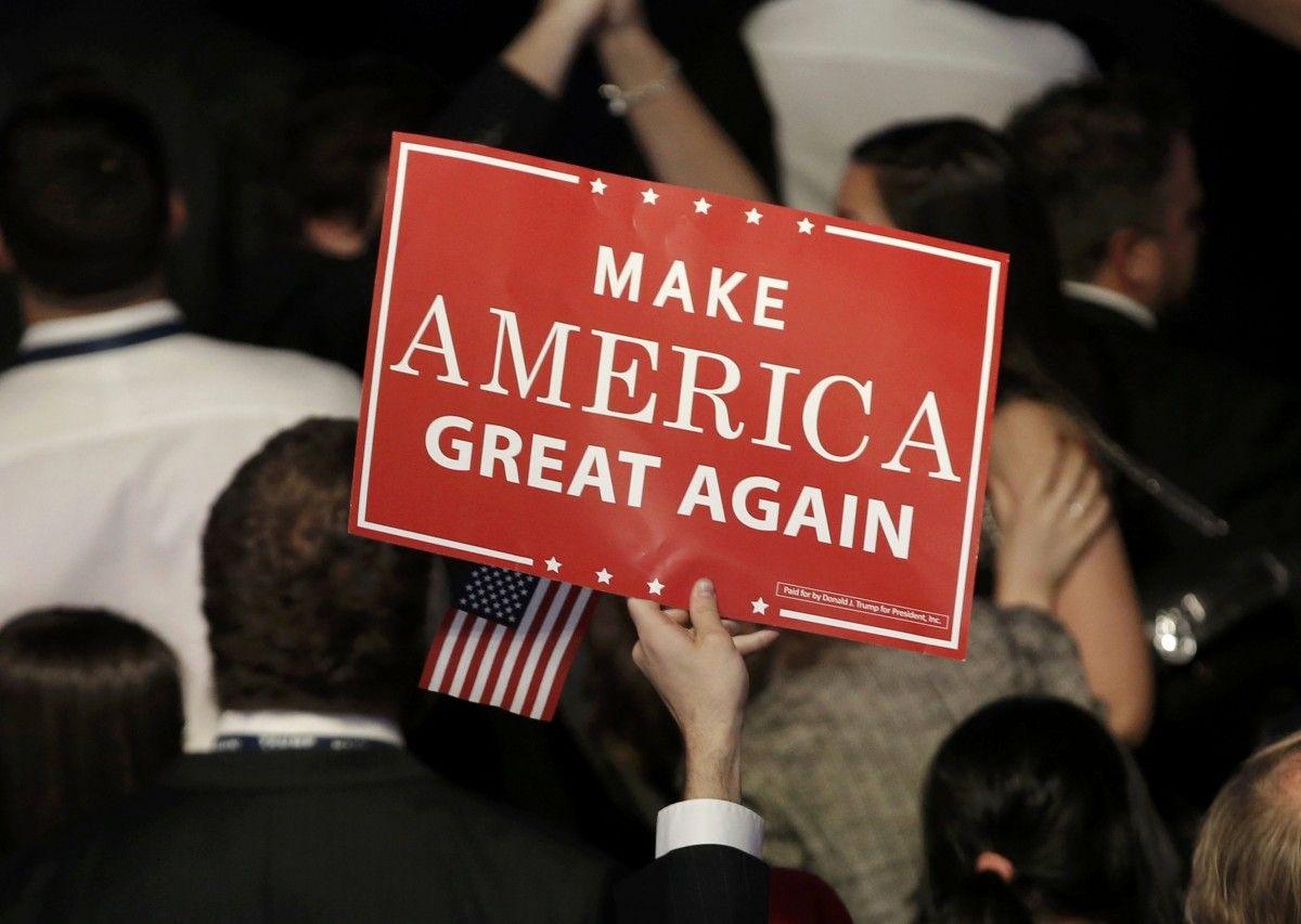 Предвыборный лозунг Дональда Трампа / REUTERS