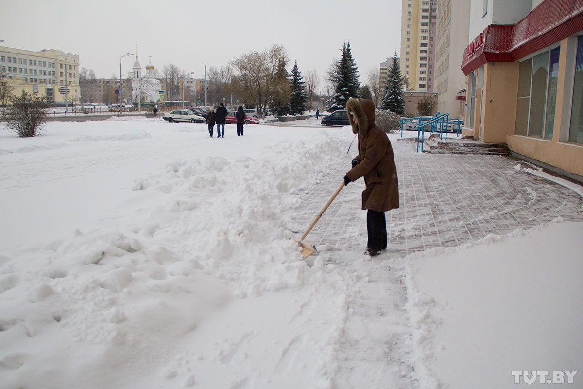 У Вітебську випало 16 см снігу / news.tut.by