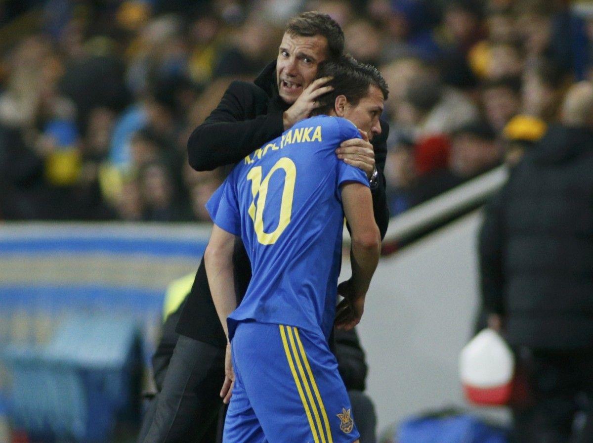 Андрей Шевченко и Евгений Коноплянка / Reuters