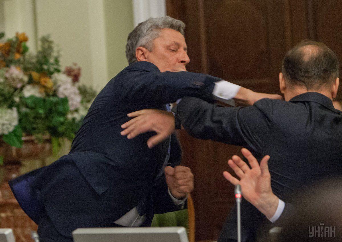 Бійка нардепів Бойка та Ляшка у Раді / УНІАН