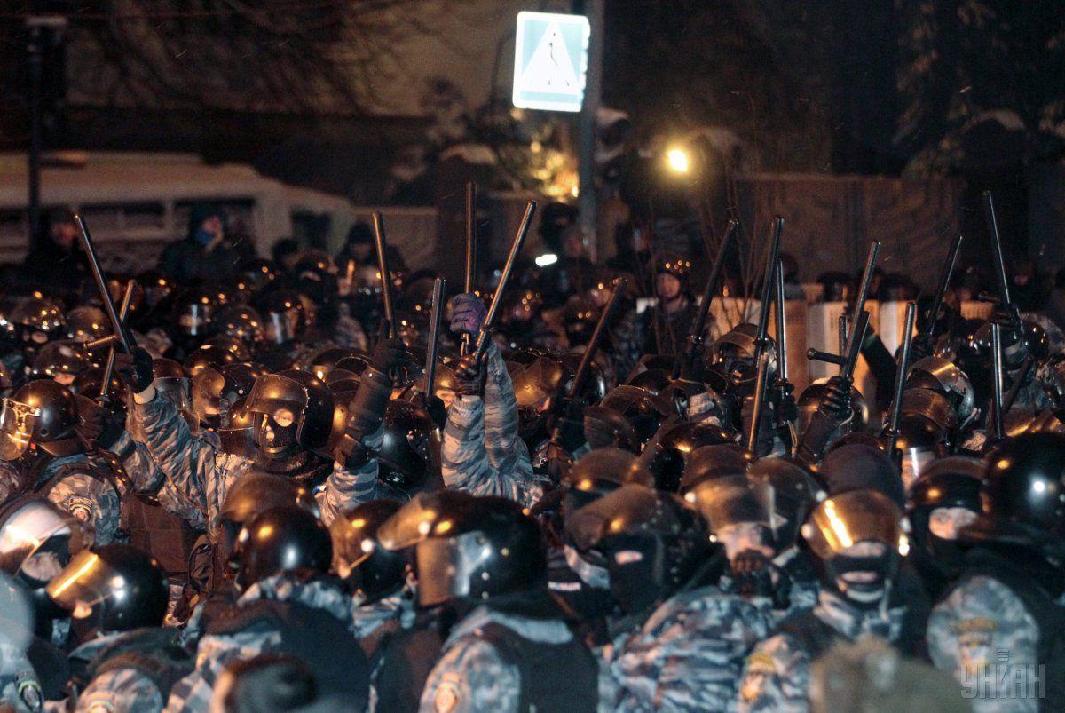 Беркутовцы во время событий Революции достоинства / фото УНИАН