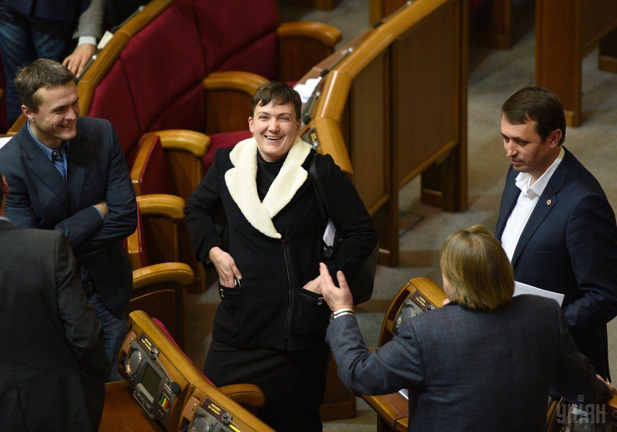 По словам Тимошенко, Надежда Савченко организовывает свой собственный общественное движение / Фото УНИАН