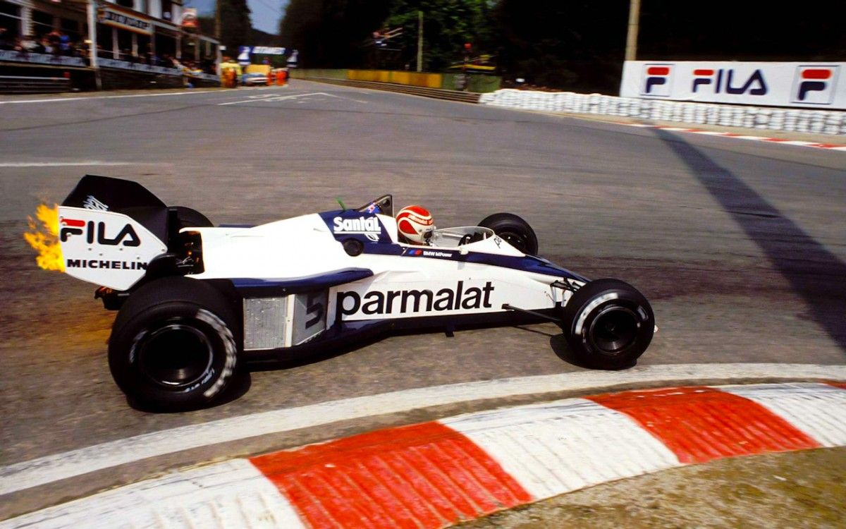 Нельсон Пике на Brabham BT52 c мотором BMW на Гран-при Бельгии 1983 года / sharonov.tumblr.com