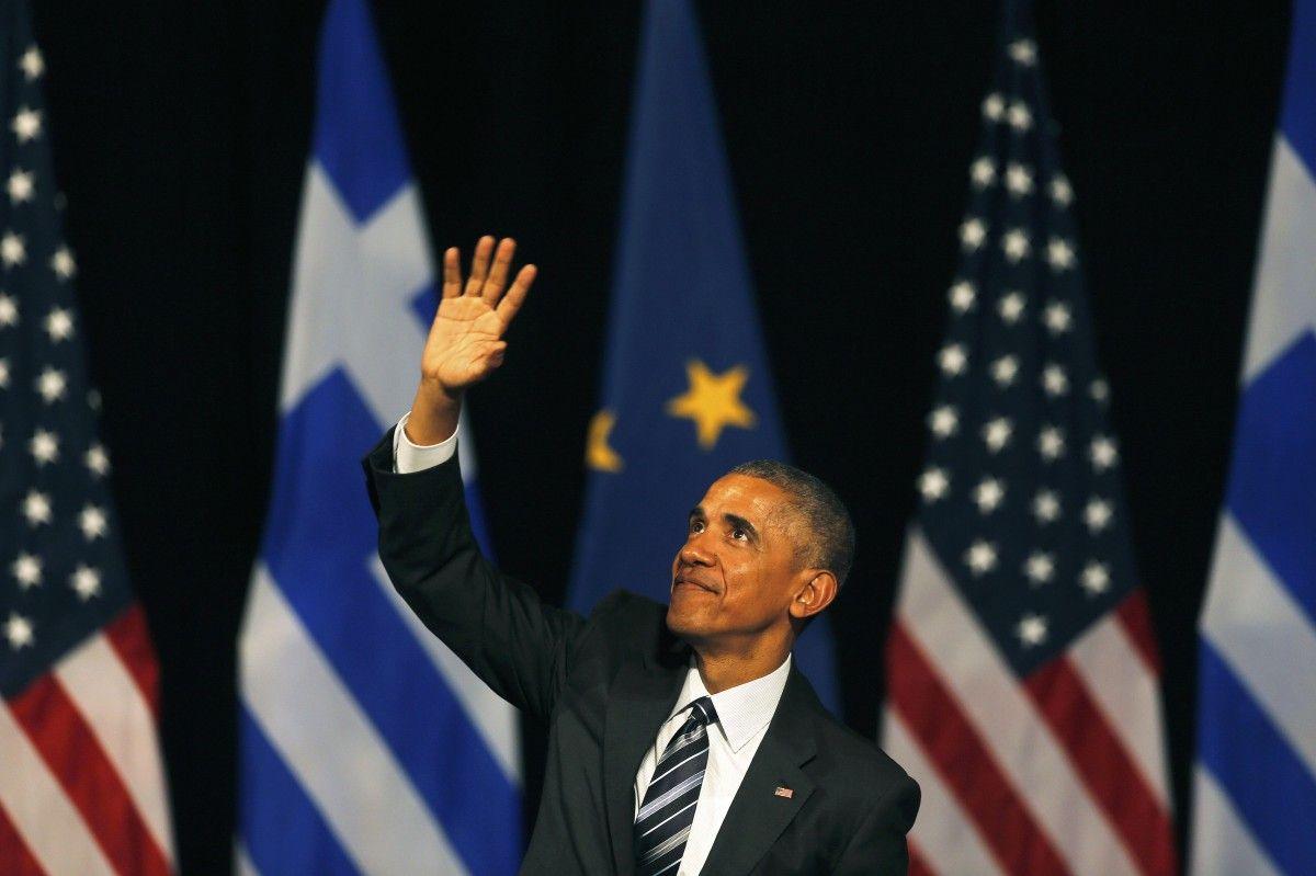 Барак Обама 16 ноября в Греции во время своего прощального турне на посту президента США / REUTERS