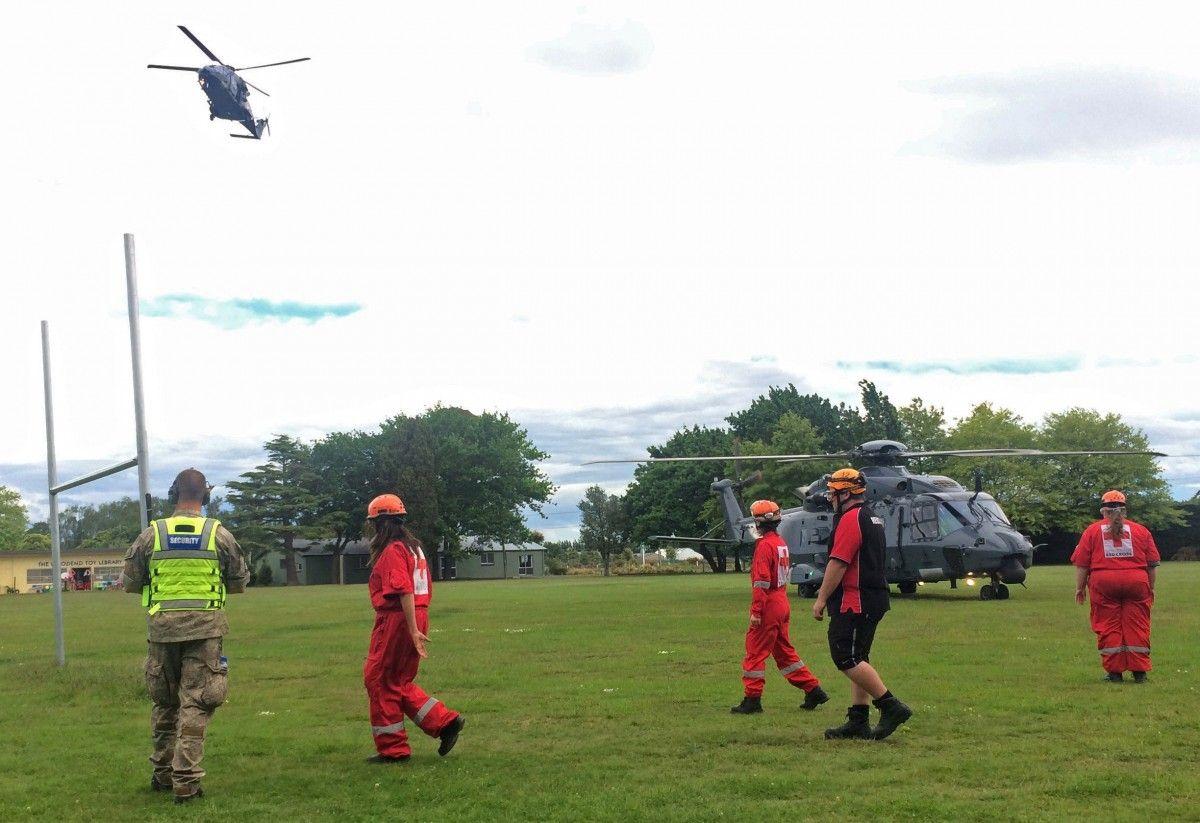 Эвакуация после землетрясения в Новой Зеландии / Reuters