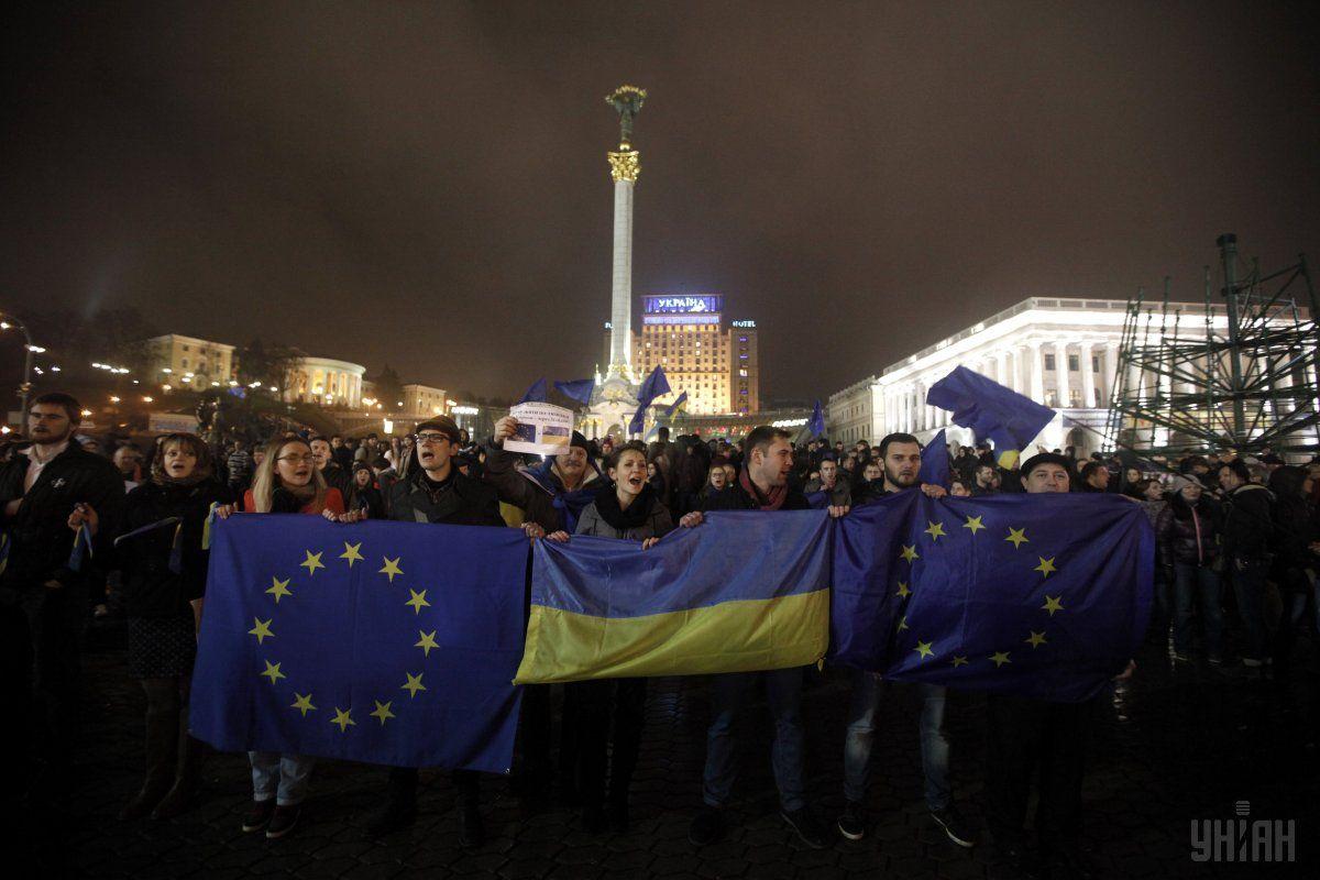 З цього починався Євромайдан / Фото УНІАН
