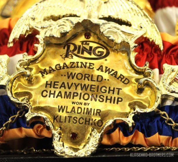Кличко владел поясом The Ring более шести лет / klitschko-brothers.com