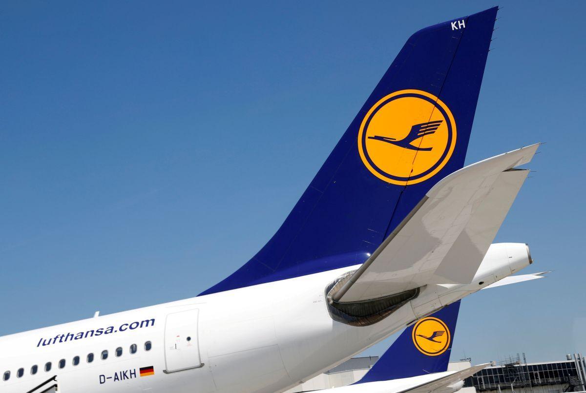 Airbus компании Lufthansa зажегся  ваэропорту Франкфурта