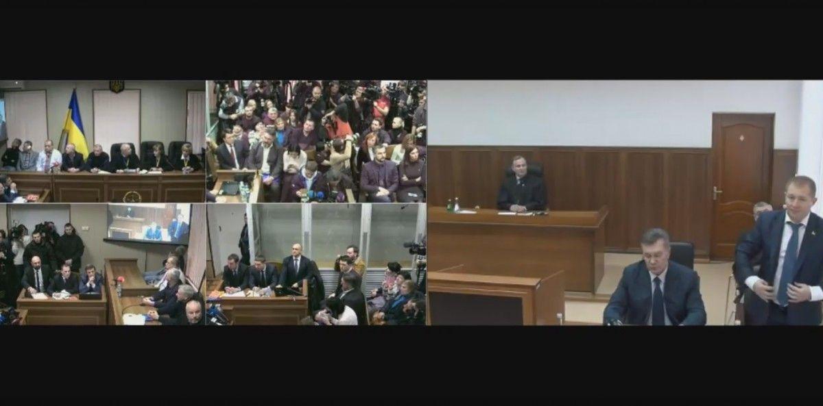 Скріншот відеодопиту Януковича