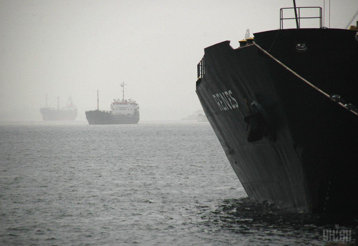 Херсонский порт. Фотоиллюстрация / УНИАН