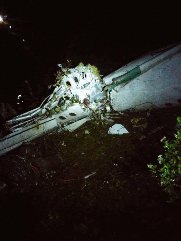 Разбившийся в Колумбии самолет / twitter.com/360RadioCo