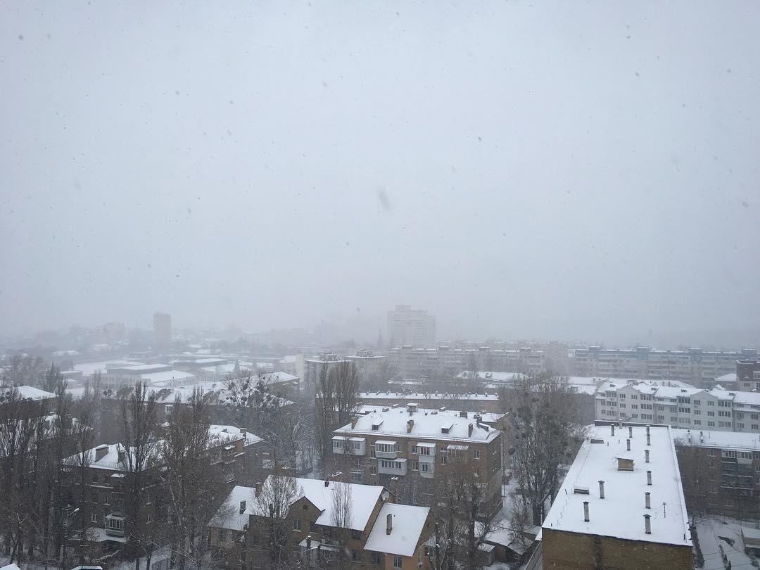 Снігопад у Києві / vk.com Катя Коваль