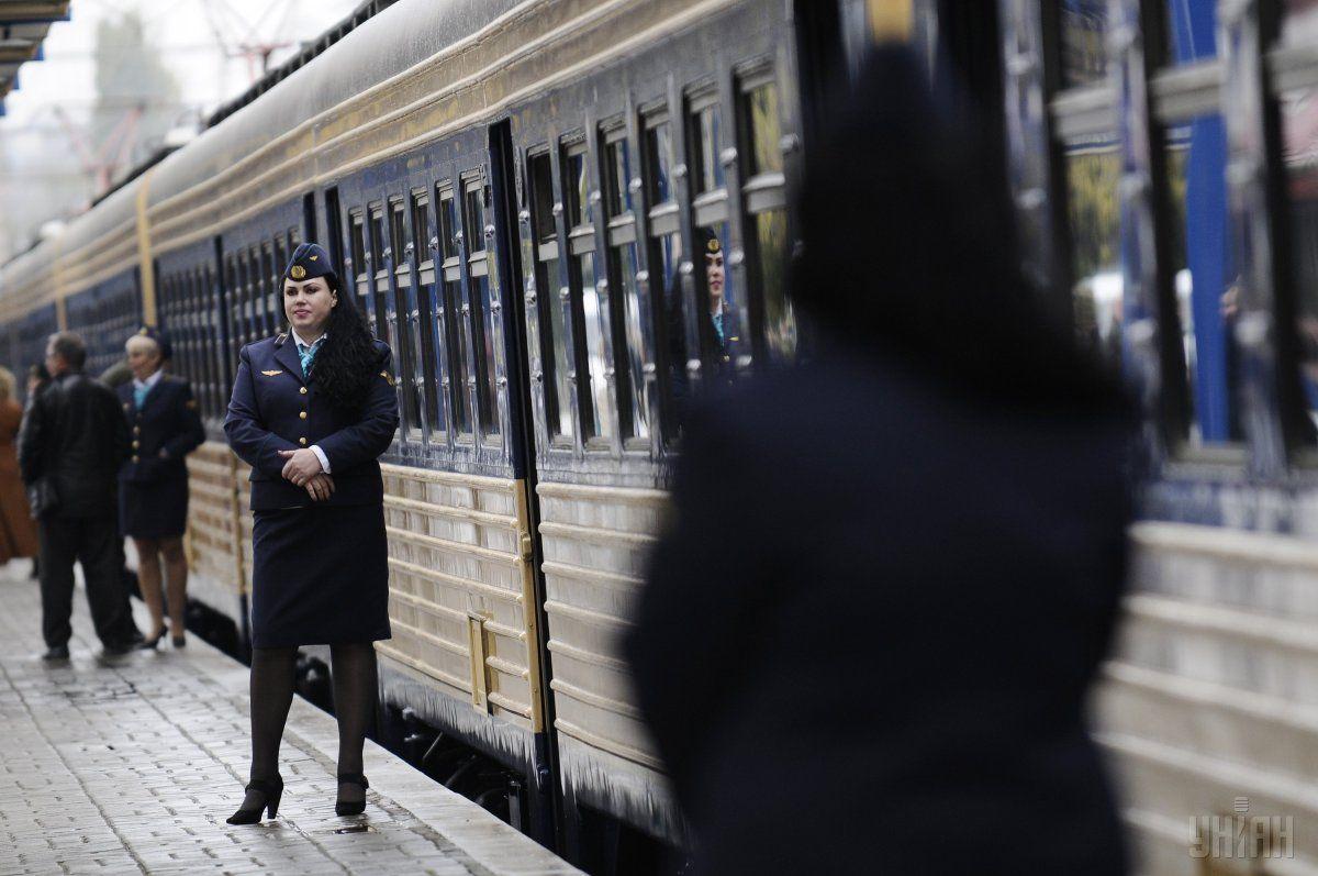 Инцидент произошел, когда поезд ехал в районе Кременчуга / фото УНИАН