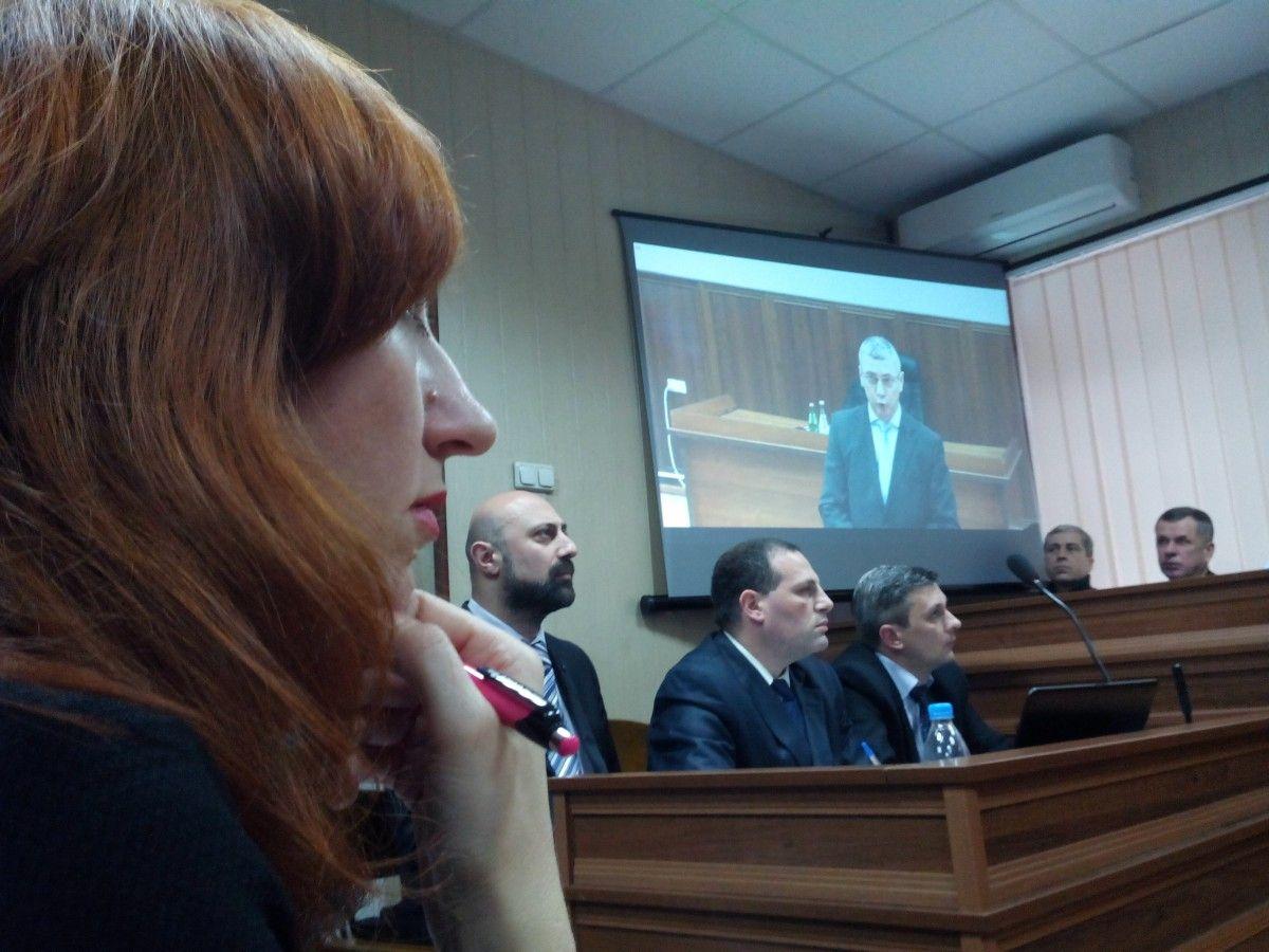 Допит Шуляка у режимі відеоконференції / УНІАН