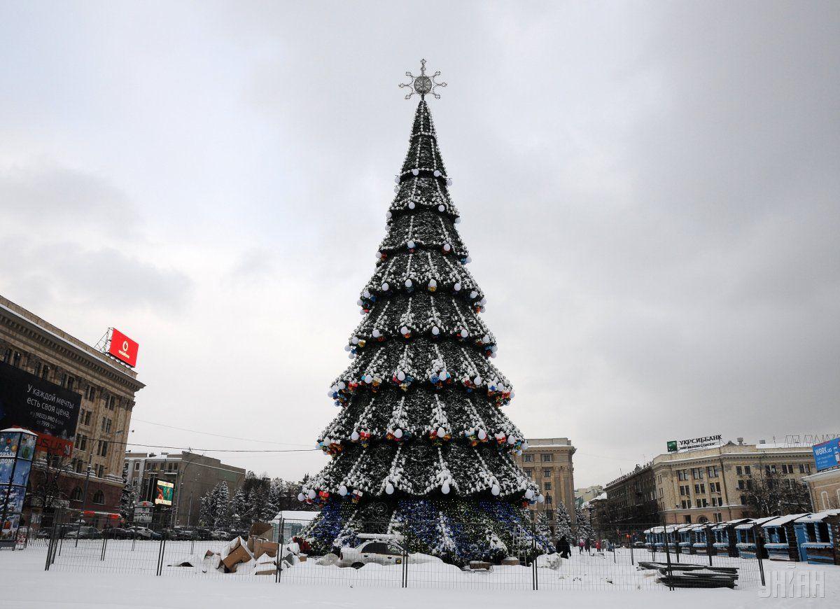 В центре Харькова уже открыта главная елка города, работают каток и новогодняя ярмарка / УНИАН