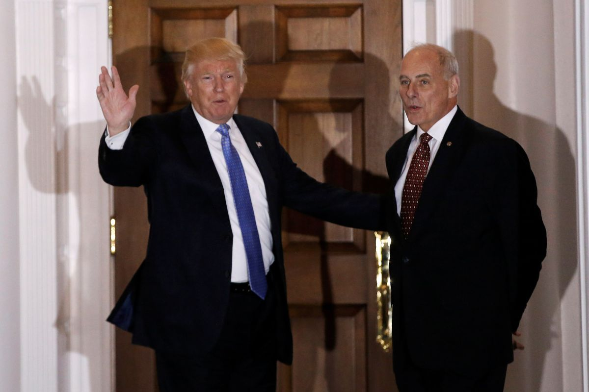 Дональд Трамп и Джон Келли / REUTERS