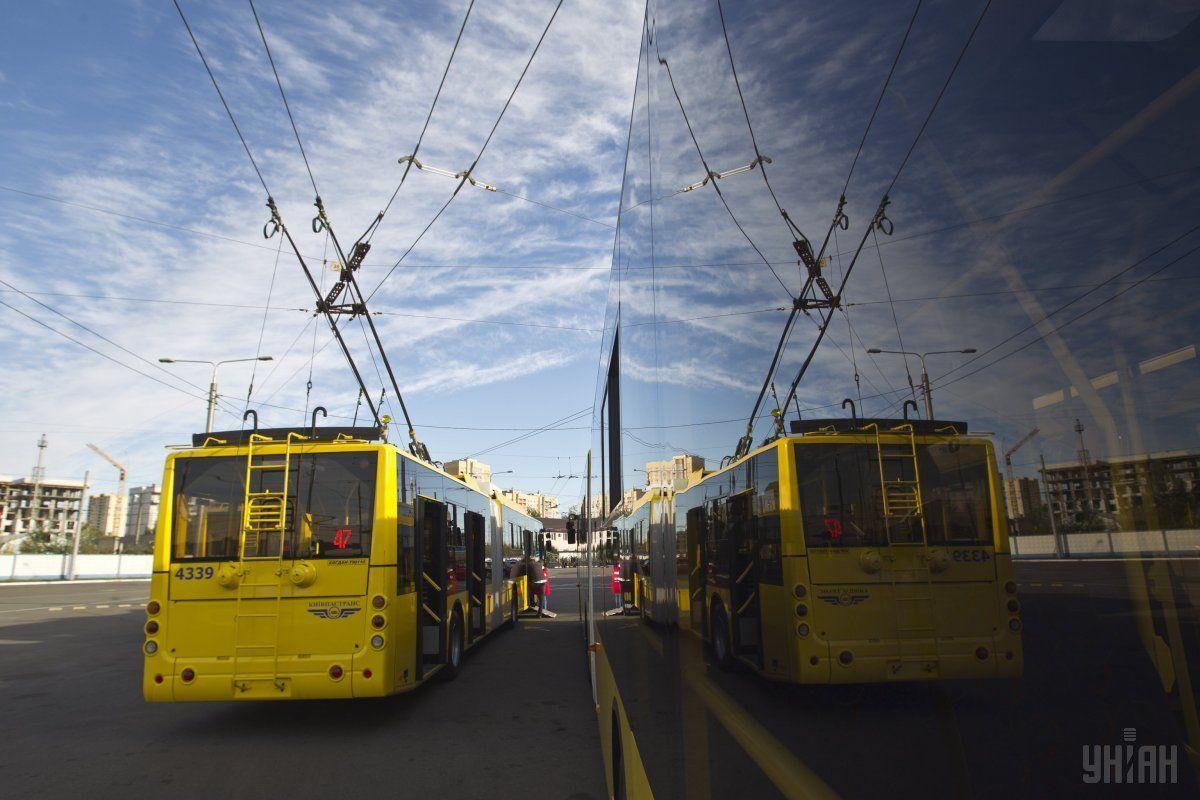 У Києві тролейбус № 39 завтра курсуватиме зі зміненим маршрутом / фото УНІАН